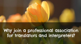 Why join a professional association for translators and interpreters?